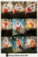 AFL Trading Card MILESTONES SUBSET COMPLETE FULL TEAM SET-GWS-2013-2018