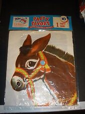 NEW vintage C.A. Reed Party Favors Pin The Tale on the Donkey game
