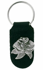 Ladies Leather Keyring/ Keychain ~ Rose ~