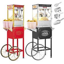 Vintage Singledouble Door Popcorn Machine Maker Popper With Cart And 8oz Kettle