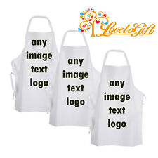 Personalised Any Image, Text or Design White Adult Apron - Brand New Apron