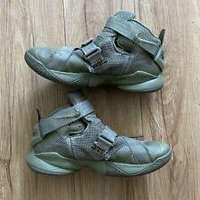 Nike Lebron Soldier IX 9 PRM Olive Green Basketball Shoe Men's Size 7 US