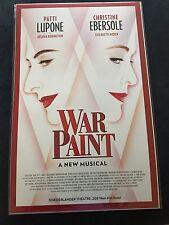War Paint-LuPone & Ebersole Window Card-Broadway