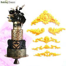3D Relief Silicone Fondant Mold Flower Cake Border Decoration Sugarcraft Mould