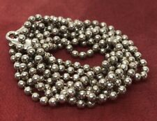 """Sterling Silver Necklace 925 Chain 30"""" Ball Bead"""