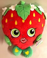 "Shopkins Red Pillow Strawberry Kiss PLUSH 16"" Stuffed Animal Toy Figure New"