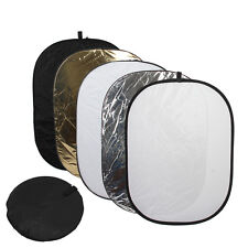 """60x80"""" 150 x 200 cm 5 in 1 Oval Collapsible Reflector Disc Set"""