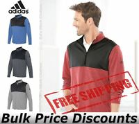 Adidas Mens Lightweight UPF pullover Shirt Warmup A280 up to 4XL