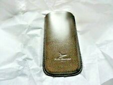 """Pheasant Leather Eyeglass Carrying  Case Xtra Wide Green 3.25"""" x 6.5"""""""