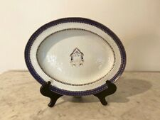 "Chinese Export Porcelain Platter for the American Market , 14 3/4"" Length?"