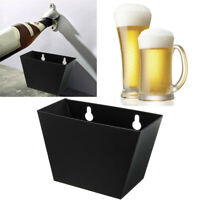 1pc Wall Mount Bar Beer Bottle Opener Cap Stainless Steel Catcher Box +
