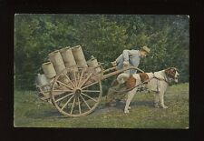Social History animals DOG CART early PPC
