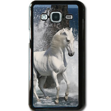 For Samsung Galaxy J3 (2016) Case Phone Cover White Horse Ocean Y01175
