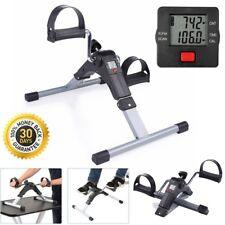 Foldable Mini Exercise Bike Pedal Exerciser Leg Arm Adjustable Resistance w/ LCD