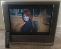 "Toshiba MW 24F12 VHS VCR DVD Combo 24"" CRT TV With Original Remote Retro Gaming"