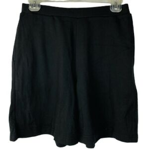Laura Scott Women's Knit Pull-On Shorts Size Small Black New