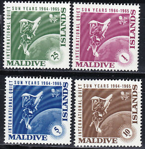 Maldive Islands 1965 Sc-147-50 Quiet Sun Year MNH - US Seller
