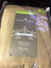 Royal Velvet Supreme Thermal Lined Pinch- Pleat Patio Panel 100 x 84