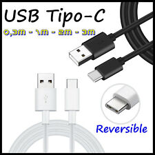 Cable Micro USB Tipo C 3.1 de Carga y Datos para movil 0,3m 1m 2m 3m metros Type