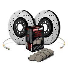For Mercedes-Benz C32 AMG SLK55 AMG FRT//RR Black Drilled Brake Rotors C55 AMG
