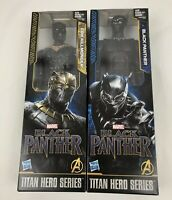 Marvel Black Panther + Erik Killmonger Titan Hero Series 12 Inch Figures- NIB