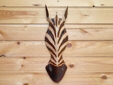 Wooden Hand Carved Zebra Mask African Tribal Ethnic Style 50cm.......