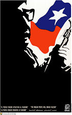 Political OSPAAAL POSTER.Salvador ALLENDE.Chile flag.am33.Chilean Revolution art