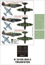 Montex Super Mask 1:32 MiG-3 for Trumpeter Kit #3 Spraying Stencil #K32109