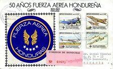 1995 Registered Air Mail Tegucigalpa-Bucharest 50 Years Honduras Air Force FDC