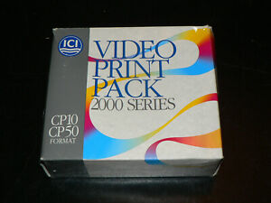 ICI Imagedata CP10, CP50 Video Print Pack 2000 series 50 prints NEU