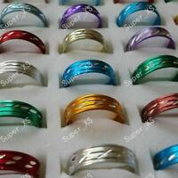 100pcs Aluminum alloy Fashion Rings Wholesale jewelry lots of New free shipping