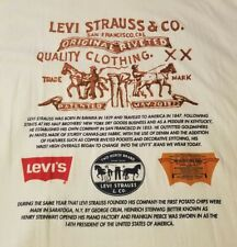Vintage LEVI'S White Graphic T-Shirt,Mens XL,NEW OLD STOCK WITH TAGS,Made in USA