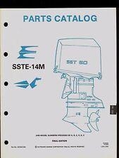 1990 OMC / JOHNSON / EVINRUDE SSTE-14M PARTS MANUAL / APBA 60 SS / 433784