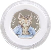 2017 Royal Mint Tom Kitten 50p Fifty Pence Silver Proof Coin Box Coa Cert 00048