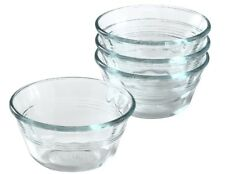 4 PYREX 6-oz Glass CUSTARD CUPS Bake Prep Dessert Clear Side Dish Sauce # 463