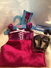 "Springfield Doll Clothes-Purple Gown & Black shoes fits American Girl/18"" doll"