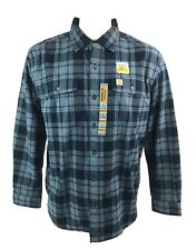 NWT CARHARTT Thick-Weight Long Sleeve PLAID SHIRT Mens L Original Fit NEW