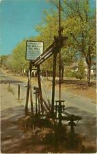 Postcard Main Street Oil Well Barnsdale Oklahoma Curteich Co from US Seller