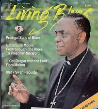 LIVING BLUES MAGAZINE NUMBER 86 MAY/JUNE 1989 GATEMOUTH MOORE BLACK SWAN RECORDS