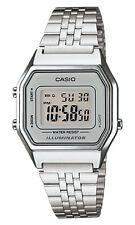 Casio LA-680W-7 Orologio Donna polso Vintage Nuovo Crono Sveglia Luce Batt.5anni