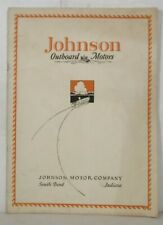 Ca. 1926 Johnson Outboard Motors catalog