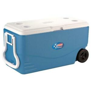 Coleman Heavy Duty Cooler with Wheels - Blue - 100 Quarts