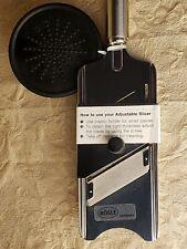 NWT RÖSLE Deluxe Adjustable Slicer Stainless Steel Cheese Vegetable *RARE Model*