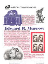 #432 29c Edward R. Murrow #2812 USPS Commemorative Stamp Panel