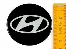 HYUNDAI ★ 4 Stück ★ SILIKON Ø55mm Aufkleber Emblem Felgenaufkleber Radkappen