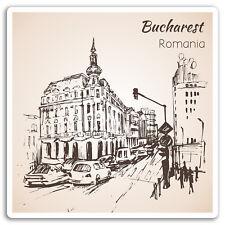 2 x 10cm Bucharest Romania Vinyl Stickers - Travel Sticker Laptop Luggage #17066
