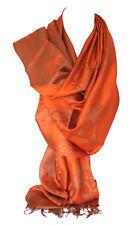 Reversible Dos Caras Pashmina Tacto Intrincado Floral Ondas Diseño Bufanda Chal