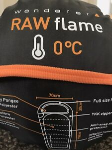 Wanderer RAW flame Hood 0C Sleeping Bag Excellent Condition