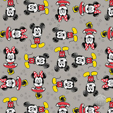 161026171 - Mickey and Minnie Mouse Zinc Camelot Disney Fabric by the Yard