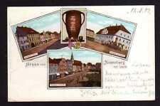 102606 AK Naumburg am Queis 1903 Markt Rathaus Nordseite Südseite Nowogrodziec
